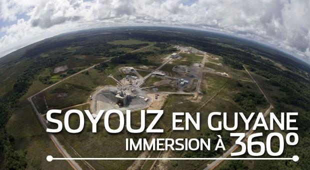 Visite à 360° de l'ensemble de lancement Soyouz, en Guyane. Crédits : CNES