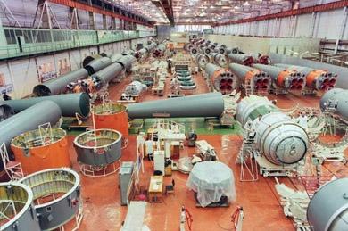 Soyuz assembly plant in Samara ; credits DR