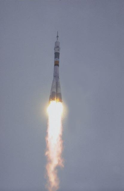 Soyuz launch from Baïkonur ; credits CNES/Esa/S.Corvaja